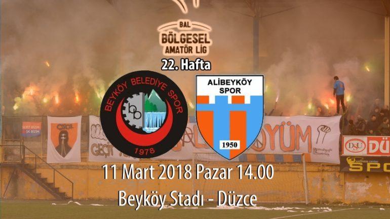22. haftada rakibimiz Beyköy Belediyespor
