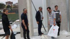 Başkanımız tesis inşaatını inceledi