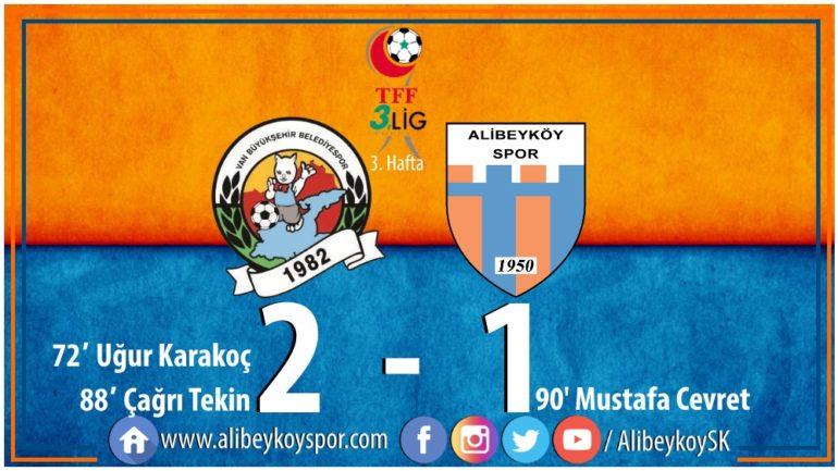 Van Büyükşehir Belediyespor 2-1 Alibeyköyspor