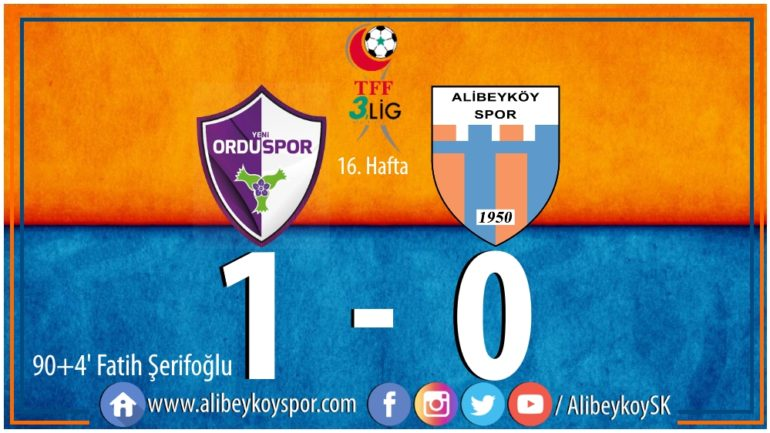 Yeni Orduspor 1-0 Alibeyköyspor