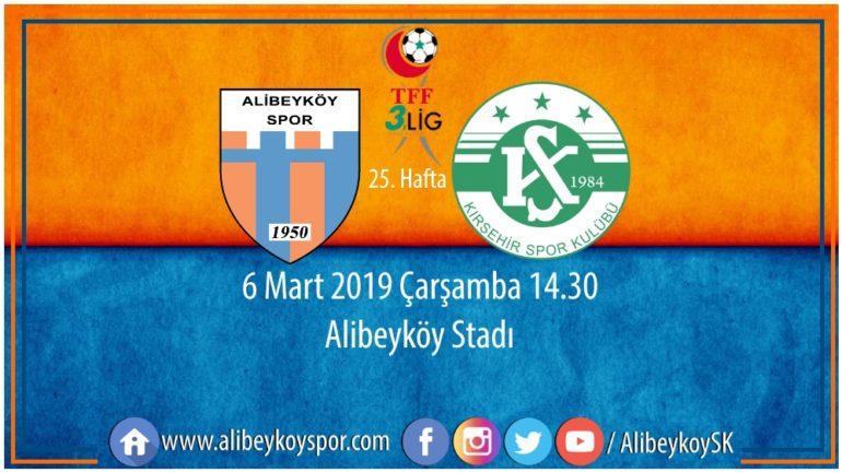 25. haftada rakibimiz Kırşehir Belediyespor