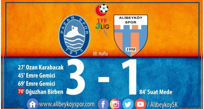 Pazarspor 3-1 Alibeyköyspor