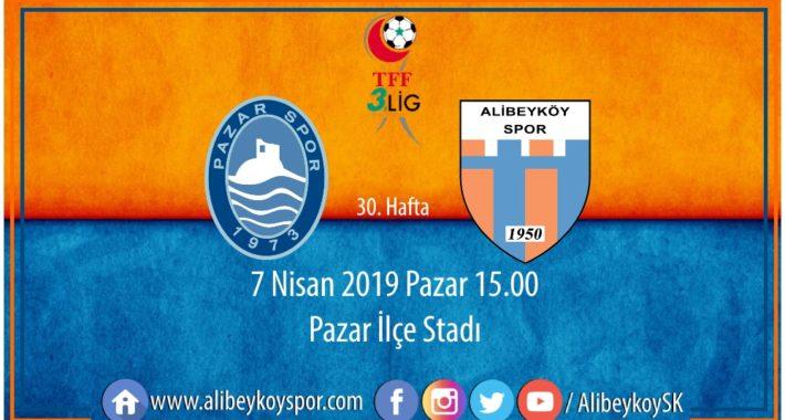 30. haftada rakibimiz Pazarspor
