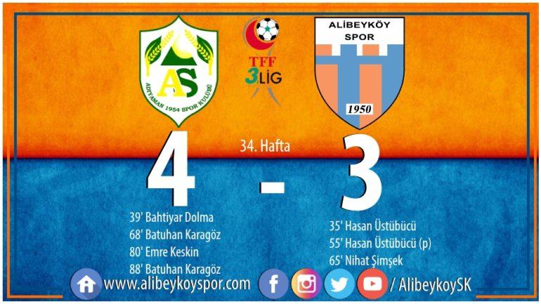 Adıyaman 1954 Spor 4-3 Alibeyköyspor