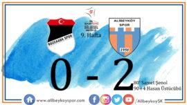 Bozcaadaspor 0-2 Alibeyköyspor
