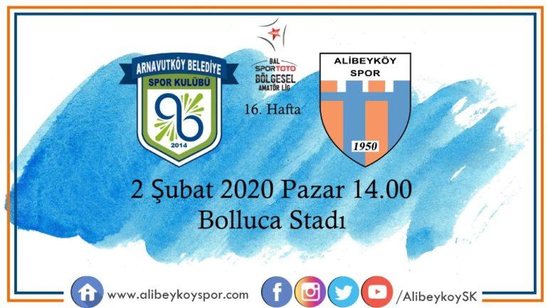 16. haftada rakibimiz Arnavutköy Belediyespor